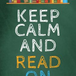 Copy of Keep Calm and Read On Poster Template Made with PosterMyWall